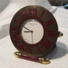 Relojes - Cartier: RELOJ DE VIAJE CARTIER - QUARTZ - NO FUNCIONA. Lote 118922439