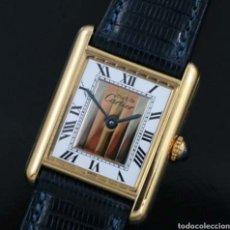 Relojes - Cartier: RELOJ DE SEÑORA CARTIER TANK VERMEIL PLATA 925 Y 20 MICRAS DE ORO.. Lote 121484010