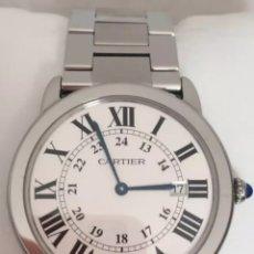 Relojes - Cartier: RELOJ DE PULSERA CARTIER RONDE SOLO 36MM ACERO ORIGINAL DOCUMENTACIÓN. Lote 121484196