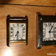 Relojes - Cartier: RELOJ MUST CARTIER Y CARTIER ANTIGUO MUJER BAÑO DE ORO. Lote 121560359