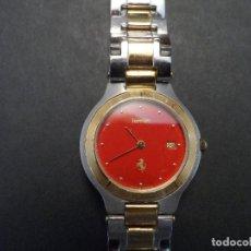 Relojes - Cartier: RELOJ CORRREA ACERO Y ORO FERRARI . CARTIER. QUARTZ. AÑO 1985. NUEVO. Lote 122587643