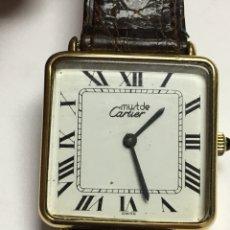 Relojes - Cartier - Reloj Cartier electro chapado 18kl con correa de piel de cocodrilo nueva - 127844704