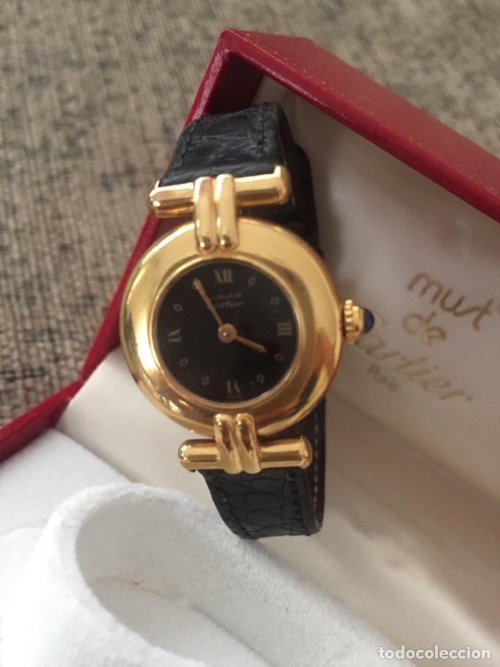 Relojes - Cartier: Must de Cartier Vermeil cuarzo - señora - estuche y garantía - Foto 2 - 171080452