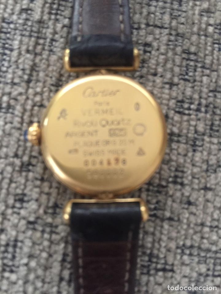 Relojes - Cartier: Must de Cartier Vermeil cuarzo - señora - estuche y garantía - Foto 3 - 171080452