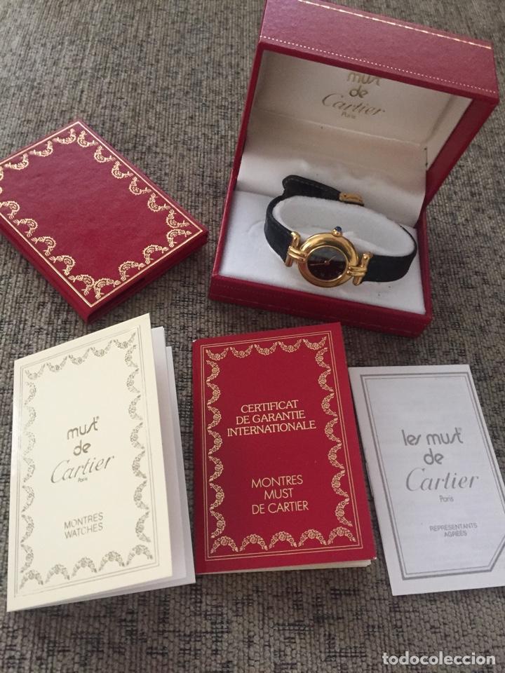 Relojes - Cartier: Must de Cartier Vermeil cuarzo - señora - estuche y garantía - Foto 4 - 171080452