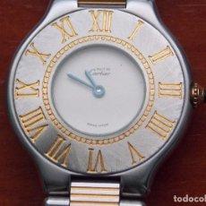 Relojes - Cartier: PRECIOSO RELOJ MUST 21 DE CARTIER ACERO INOXIDABLE Y ORO 18K QUARTZ 31 MM, EN CAJA ORIGINAL. Lote 142306078