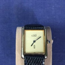 Relojes - Cartier: RELOJ PULSERA CARTIER SWISS ORIGINAL PLATA 925 CHAPADO ORO CAJA 30 X23MM. Lote 143705678