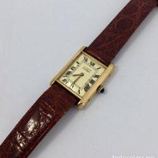 Relojes - Cartier: CARTIER TANK PLAQUÈ ORO 18KT -UNISEX ¡¡COMO NUEVO!!. Lote 151176046