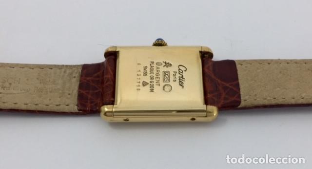 Relojes - Cartier: CARTIER TANK PLAQUÈ ORO 18KT -UNISEX ¡¡COMO NUEVO!! - Foto 2 - 151176046