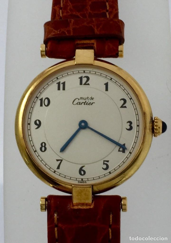CARTIER PLATA PLAQUÈ ORO 18KT 20 MICRAS-UNISEX ¡¡COMO NUEVO!! (Relojes - Relojes Actuales - Cartier)