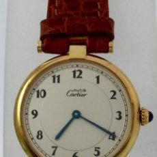 Relojes - Cartier: CARTIER PLATA PLAQUÈ ORO 18KT 20 MICRAS-UNISEX ¡¡COMO NUEVO!!. Lote 151176206