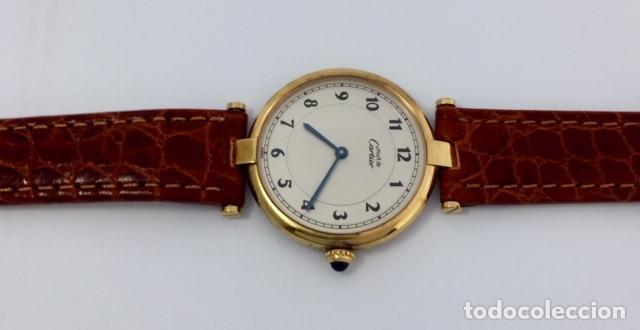 Relojes - Cartier: CARTIER PLATA PLAQUÈ ORO 18KT 20 MICRAS-UNISEX ¡¡COMO NUEVO!! - Foto 2 - 151176206