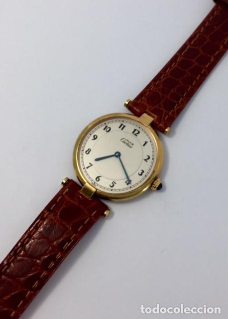 Relojes - Cartier: CARTIER PLATA PLAQUÈ ORO 18KT 20 MICRAS-UNISEX ¡¡COMO NUEVO!! - Foto 4 - 151176206