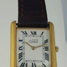 Relojes - Cartier: CARTIER PLATA PLAQUÈ ORO 18KT 20 MICRAS-UNISEX ¡¡COMO NUEVO!!. Lote 151335482
