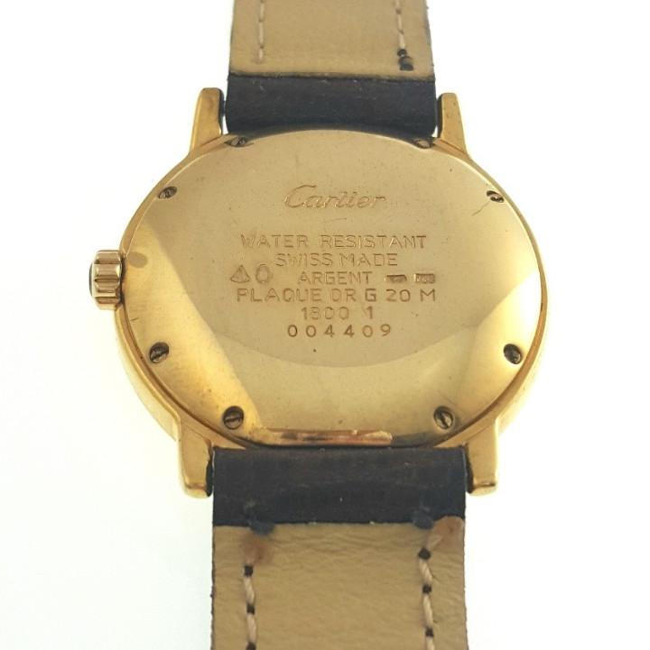 Relojes - Cartier: CARTIER RONDE 21-PLATA-PLAQUE ORO 18kts.-HOMBRE-UNISEX - Foto 6 - 64588638