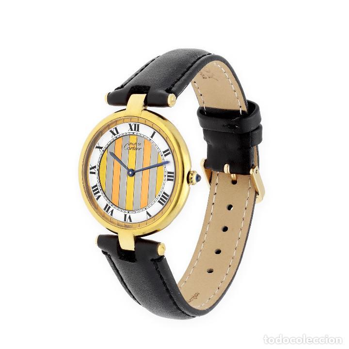 CARTIER PARÍS VERMEIL RELOJ DE SEÑORA PLATA DORADA 925 (Relojes - Relojes Actuales - Cartier)