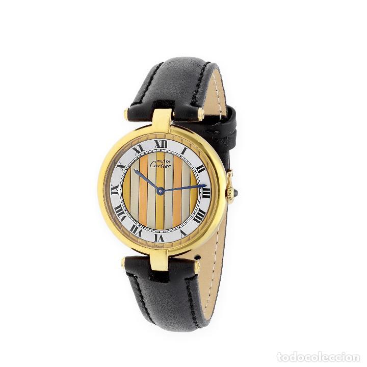 Relojes - Cartier: Cartier París Vermeil Reloj de Señora Plata Dorada 925 - Foto 2 - 160927214