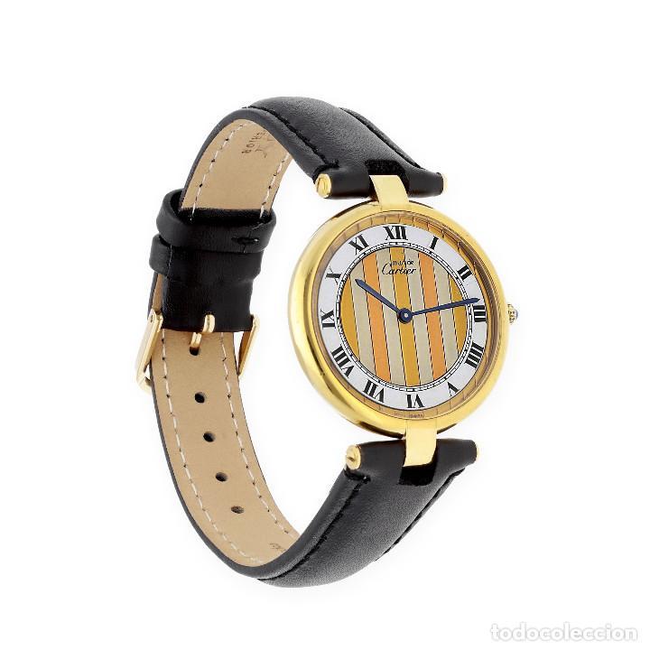 Relojes - Cartier: Cartier París Vermeil Reloj de Señora Plata Dorada 925 - Foto 3 - 160927214