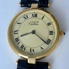 Relojes - Cartier: CARTIER PLATA PLAQUÈ ORO 18KT 20 MICRAS-UNISEX ¡¡COMO NUEVO!!. Lote 161601694