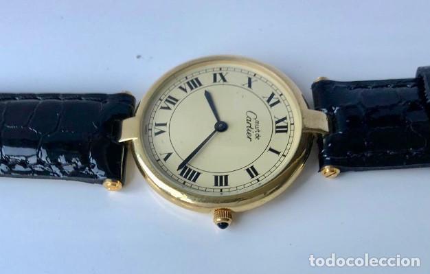 Relojes - Cartier: CARTIER PLATA PLAQUÈ ORO 18KT 20 MICRAS-UNISEX ¡¡COMO NUEVO!! - Foto 3 - 161601694