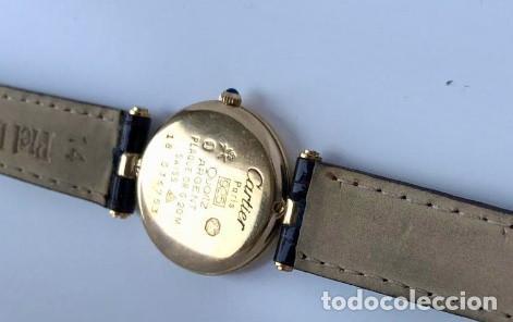 Relojes - Cartier: CARTIER PLATA PLAQUÈ ORO 18KT 20 MICRAS-UNISEX ¡¡COMO NUEVO!! - Foto 4 - 161601694