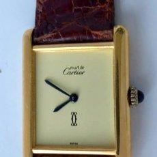 Relojes - Cartier: CARTIER TANK-PLATA PLAQUÈ ORO 18KT 20 MICRAS-UNISEX ¡¡COMO NUEVO!!. Lote 161601890