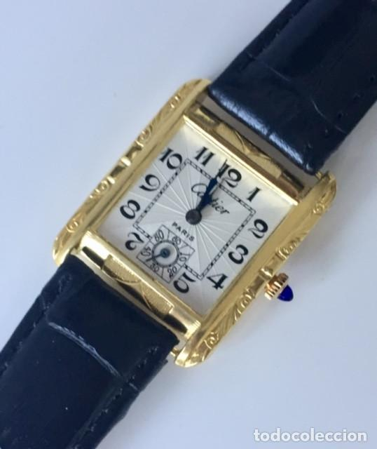 Relojes - Cartier: CARTIER VINTAGE PLAQUE ORO 18KT EPOCA ART-DECO - Foto 3 - 161602142