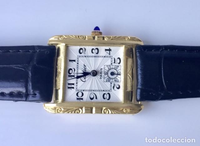 Relojes - Cartier: CARTIER VINTAGE PLAQUE ORO 18KT EPOCA ART-DECO - Foto 4 - 161602142