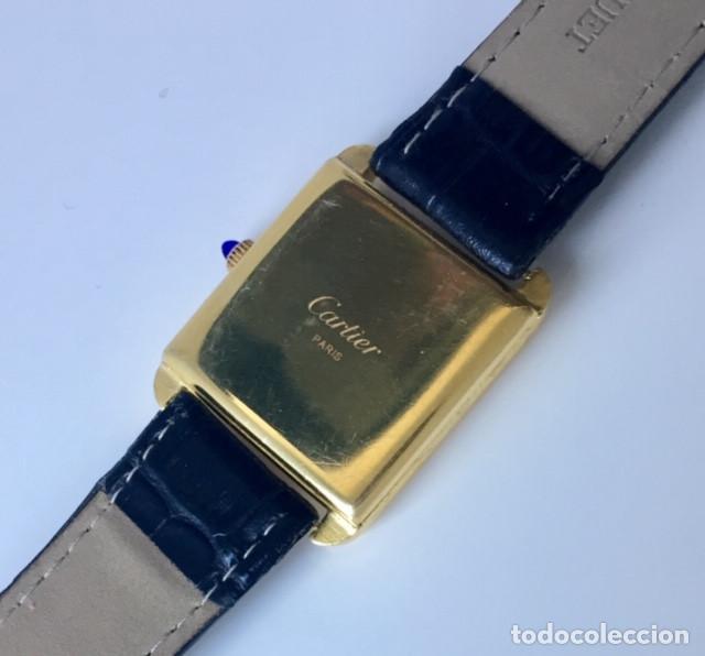 Relojes - Cartier: CARTIER VINTAGE PLAQUE ORO 18KT EPOCA ART-DECO - Foto 5 - 161602142