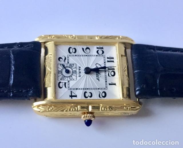 Relojes - Cartier: CARTIER VINTAGE PLAQUE ORO 18KT EPOCA ART-DECO - Foto 2 - 161602142