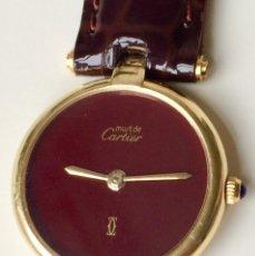 Relojes - Cartier: CARTIER-PLATA PLAQUÈ ORO 18KT 20 MICRAS-MUJER ¡¡COMO NUEVO!!. Lote 161602370