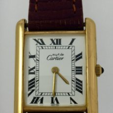Relógios - Cartier: CARTIER TANK-PLATA PLAQUÈ ORO 18KT 20 MICRAS-MUJER ¡¡COMO NUEVO!!. Lote 161602682