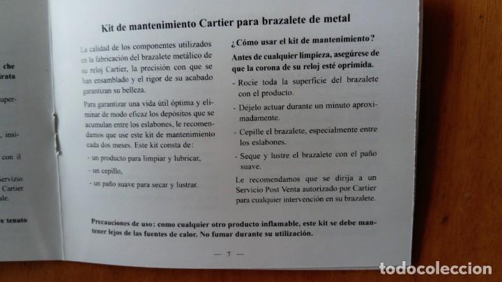 Relojes - Cartier: Kit de mantenimiento Cartier para brazaletes de metal - Foto 3 - 168831964