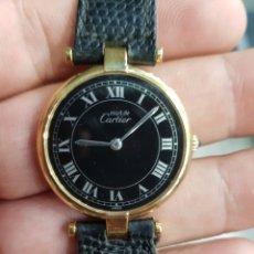 Relógios - Cartier: RELOJ DE PULSERA MUST DE CARTIER DE PLATA 925 PLAQUE DE ORO. Lote 171001555