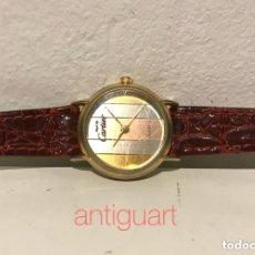 Relojes - Cartier: RELOJ DE PULSERA DE MUJER MUST DE CARTIER. CHAPADO EN ORO, PULSERA PIEL.. Lote 172762254