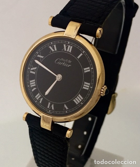 CARTIER PLATA PLAQUÈ ORO 18 KTS. (Relojes - Relojes Actuales - Cartier)