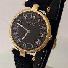 Relojes - Cartier: CARTIER PLATA PLAQUÈ ORO 18 KTS.. Lote 173172500