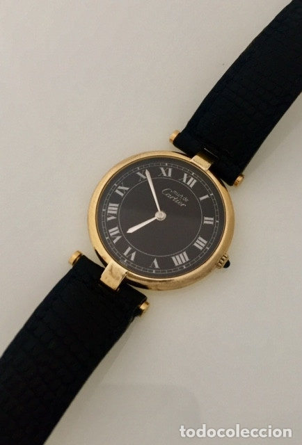Relojes - Cartier: CARTIER PLATA PLAQUÈ ORO 18 KTS. - Foto 3 - 173172500