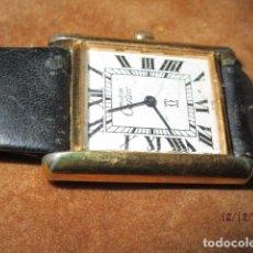 Relógios - Cartier: RELOJ ANTIGUO A CUERDA MUST DE CARTIER DE SEÑORA PLACA DE ORO 18 K FUNCIONANDO. Lote 166593422