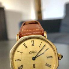 Relojes - Cartier: CARTIER ELECTROPLATED 18 K GOLD. Lote 178843061