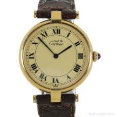 Relojes - Cartier: MUST DE CARTIER VERMEIL MUJER. Lote 179400251