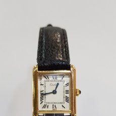 Relojes - Cartier: RELOJ CARTIER MUST MANUAL WINDING ELECTROPLATED 18 GOLD LADY. Lote 180095432