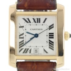 Relojes - Cartier: CARTIER TANK FRANÇAISE ORO REF. 1840 CAJA Y PAPELES. Lote 180956490