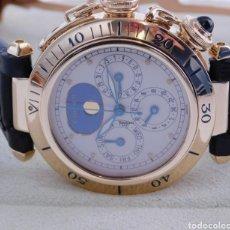 Relojes - Cartier: RELOJ CARTIER PASHA FASE LUNAR ORO DE 18K. Lote 182802876