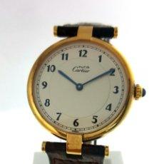 Relojes - Cartier: CARTIER PLATA PLAQUÈ ORO 18 KTS.UNISEX.. Lote 183748660