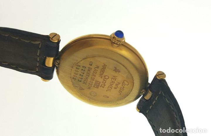 Relojes - Cartier: CARTIER PLATA PLAQUÈ ORO 18 KTS.UNISEX. - Foto 2 - 183748660