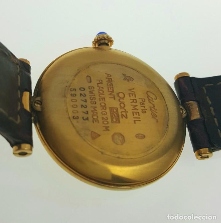 Relojes - Cartier: CARTIER PLATA PLAQUÈ ORO 18 KTS.UNISEX. - Foto 3 - 183748660