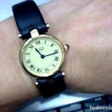 Relojes - Cartier: RELOJ MUST CARTIER ,PLATA PLAQUE ORO. Lote 189242693