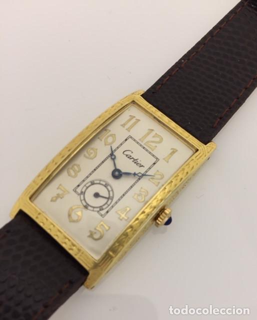 Relojes - Cartier: CARTIER EPOCA-ART-DECO-PLATA PLAQUÈ ORO 18KTS. - Foto 2 - 189974082