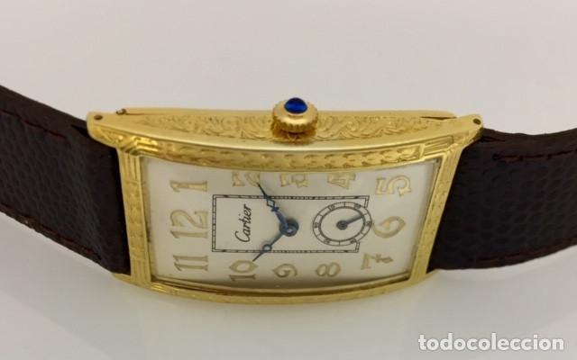 Relojes - Cartier: CARTIER EPOCA-ART-DECO-PLATA PLAQUÈ ORO 18KTS. - Foto 3 - 189974082